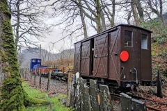 A much brighter location for photography in the 'Spinney' has emerged, showing the immaculate condition of the works train.