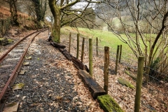 The fence along this section of the line has degraded severely in the last 12 months, as a short term measure we discarded previously used sleepers along the bottom to deter livestock for a little longer.