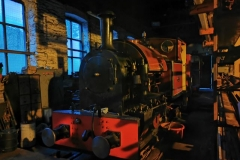 With an inspection from the boiler inspector due in the coming weeks, No. 7 rests at Maespoeth out of the wind and rain, much credit goes to the small group of volunteers involved in the winter maintenance of the loco.