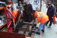 … and all carefully measured to ensure the waggon rolls square – and easily!