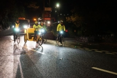 """… to observe the BBC """"Children in Need"""" Rickshaw Challenge pass by, but after going up the steepest street in the world, they are running very late, so several hours later they pass the road junction to Aberllefenni …"""