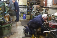 Tuesday, 10.11.2020. Back to work after (the Welsh) Lock-Down, Chris & Bob continue the fabrication …