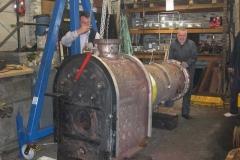 …where Patrick struggled to raise the boiler …