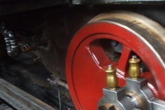 In the Engine Shed, No. 7's problematic valve gear has been stripped down (and the trailing truck removed) …