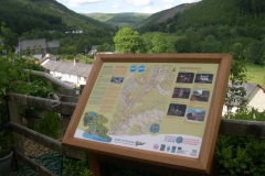 Not to ignore recent publicity moves, a new information board (one of 5 in the valley) has been erected.