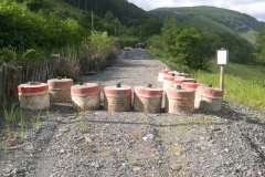 To commemorate the 70th Anniversary of D-Day, our concreted tubs have been laid out (for now) to repel unwanted intruders!