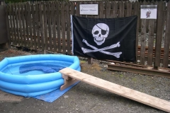 All is ready for miscreants to Walk the Plank ...