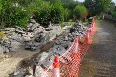 Corris Station Project. Wednesday, 8.8.2018. Wall building on Phase 1 has commenced …