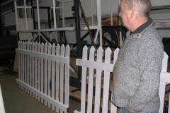 … on priming the new fence panels for Corris Station.