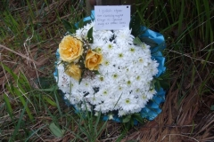 … has been added a wreath from a well-wisher in memory of the late Elwyn Slate…