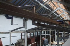 … so that by the end of the day, two more roof ribs are in position (only one more to go) …