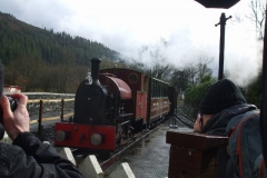… which heads to Corris in the rain, towards sunshine!
