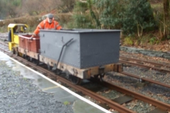 Meanwhile, Tony and Steve set off up the line with No. 9 and Heritage waggons …