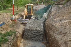 … as the last of the bottom row of gabions (at the north end) has now been filled.