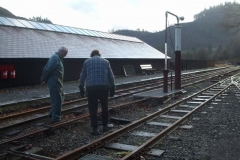There was then the small matter of tidying up, and emptying the loco watering system at Maespoeth for the winter.