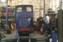 … and later, Trefor arrives to review progress on the loco with Patrick.