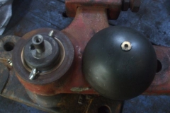 Friday, 15.10.2021. Phil has been busy, making up a trial rain cap for point rodding angle cranks ...