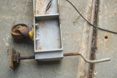 Friday, 8.10.2021. One of the spreader beams under the gantry on the car park at Maespoeth, has suffered with the rust bug, so has been removed for a new one to be made.