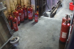 Thursday, 7.10.2021. The fire extinguishers are inspected at Maespoeth ...