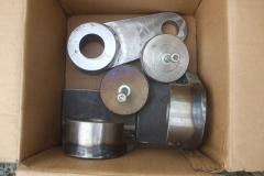 Wednesday, 13.10.2021. Brake gear components manufactured by Ian, welded by Adrian and machined by Phil are on their way to Alan Keef's for inclusion on new steam loco No. 10.