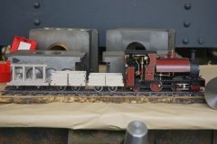 At the end of the frames, are a superb model of a live steam Corris train owned by Ian Cross.