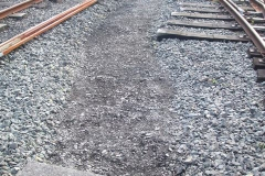 Meanwhile, ballast had been displaced to the side in the yard to enable an ash-surfaced path be delineated towards the Signal Box ...