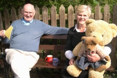 … joined by Peter and Amanda cuddling more bears …