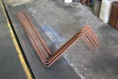 … while Neil has been bending rebar for the new wall base near the Signal Box …