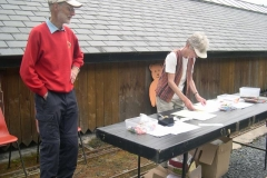 … while at Maespoeth, Geoff & Sue entertain the guests …