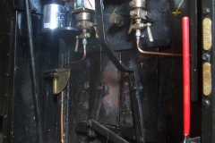 At Maespoeth, the wash out plugs have gone back in the boiler of No. 7 …