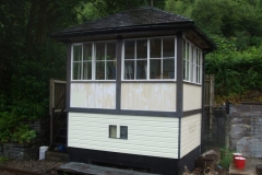 … and a good start has been made on re-painting the Signal Box …