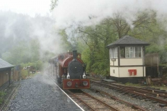 …before the train formation was altered for a run-past and an express return to Corris for their Bara Brith!