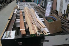 …which has meant that some of the timber stored on it has moved to No. 23's underframes.