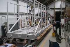 …who is roped in to help lift and roughly, bolt up the body panels on them to show progress.