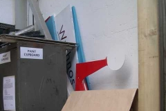 The gantry boards and Santa on a stick have been stored as instructed ...