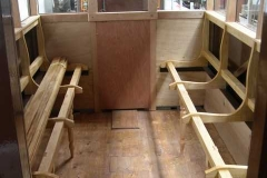 The internal panels have been reinstated in the south end of carriage No. 22 …