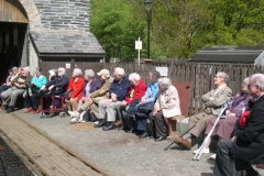 Wednesday, 14.5.14. The first of two Special Trains for Aberystwyth Probus Club are entertained to a Shed Talk by Derek …