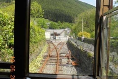 ... and the view as the train enters Corris Station.