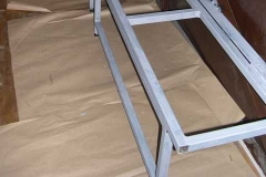 …priming the folding seat frames in carriage No. 22 …