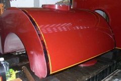 The waggon carrying the gleaming steel work had by then been pushed back inside the shed.