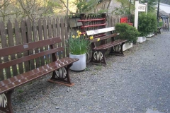 …and the last of the platform benches has been placed outside.