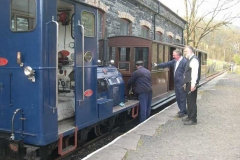 …while Trefor, Dick and Derek prepare to put the carriages away.