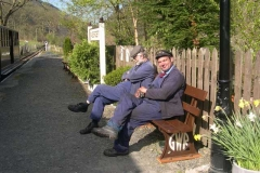 …while the loco crew of Richard, Trefor …