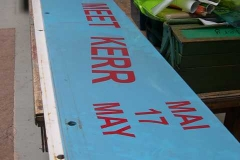 He has also been up-dating the advertising boards for the gantry …