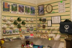 In the Museum, the new slatwall has been loaded with sales goods …