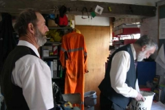 Richard Saffery and Derek clear up at the end of the day …