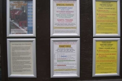 Thursday, 17.4.14. Richard Saffery is about – and has made his appearance felt, with new posters in various places …