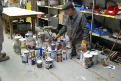… and Steve sorts the usable contents …