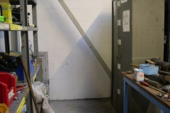 … and the paint cupboards have been re-arranged to prevent accidental contact with wet materials by our visitors.