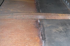 … the weld inside the body of the Queen Mary waggon has been ground smooth …